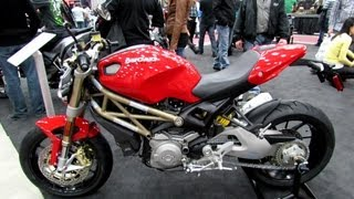 8. 2013 Ducati Monster 1100 EVO - Walkaround - 2013 Quebec Motorcycle Show