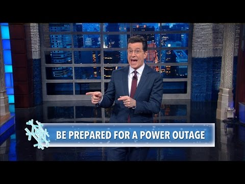 Stephen Colbert s Winter Storm Survival Tips