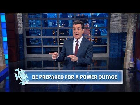 Stephen Colbert s Winter Storm Survival Tips