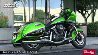 10. Twin Slash Round Slip-Ons for 2012 Kawasaki Vulcan 1700 Vaquero