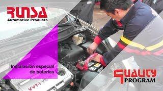 Instalación especial de baterías