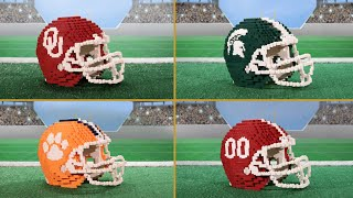 LEGO® Models of College Football Playoff Helmets - Final Four - #LEGOCollegeFootball