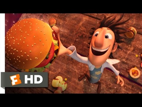 Cloudy with a Chance of Meatballs - It's Raining Burgers Scene (1/10)   Movieclips