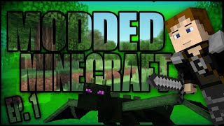 Minecraft Modded Survival Island - Episode 1 - A new start!
