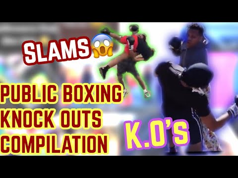 PUT ON THE GLOVES PUBLIC BOXING 🥊 KNOCKOUT COMPILATION ‼️( K.O' s, SLAMS , FIGHTS)😱 MUST WATCH