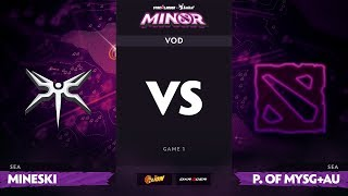 [RU] Mineski vs Power of MYSG+AU, Game 1, StarLadder ImbaTV Dota 2 Minor S2 SEA Qualifiers