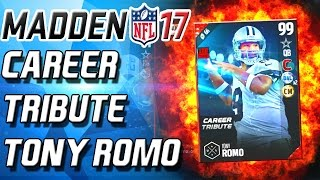 TONY ROMO RETIRED! CAREER TRIBUTE! - Madden 17 Ultimate Team
