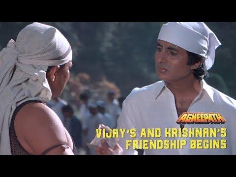 Vijay's & Krishnan's friendship begins   Agneepath (1990)   Amitabh Bachchan, Mithun Chakraborty