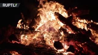 В немецком Поттенштайне в праздник Трех королей зажгли сотни костров