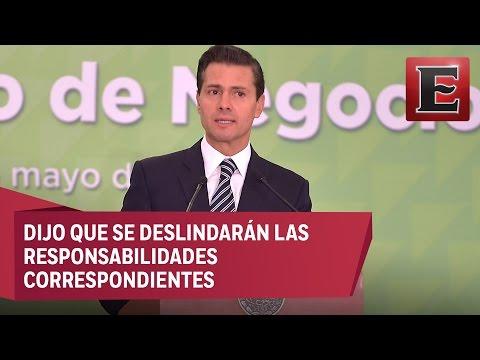 Autoridades investigarán enfrentamientos en Palmarito, asegura Peña Nieto