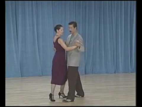 основные фигуры аргентинского танго - 08 Ochos para atras(4 часть)