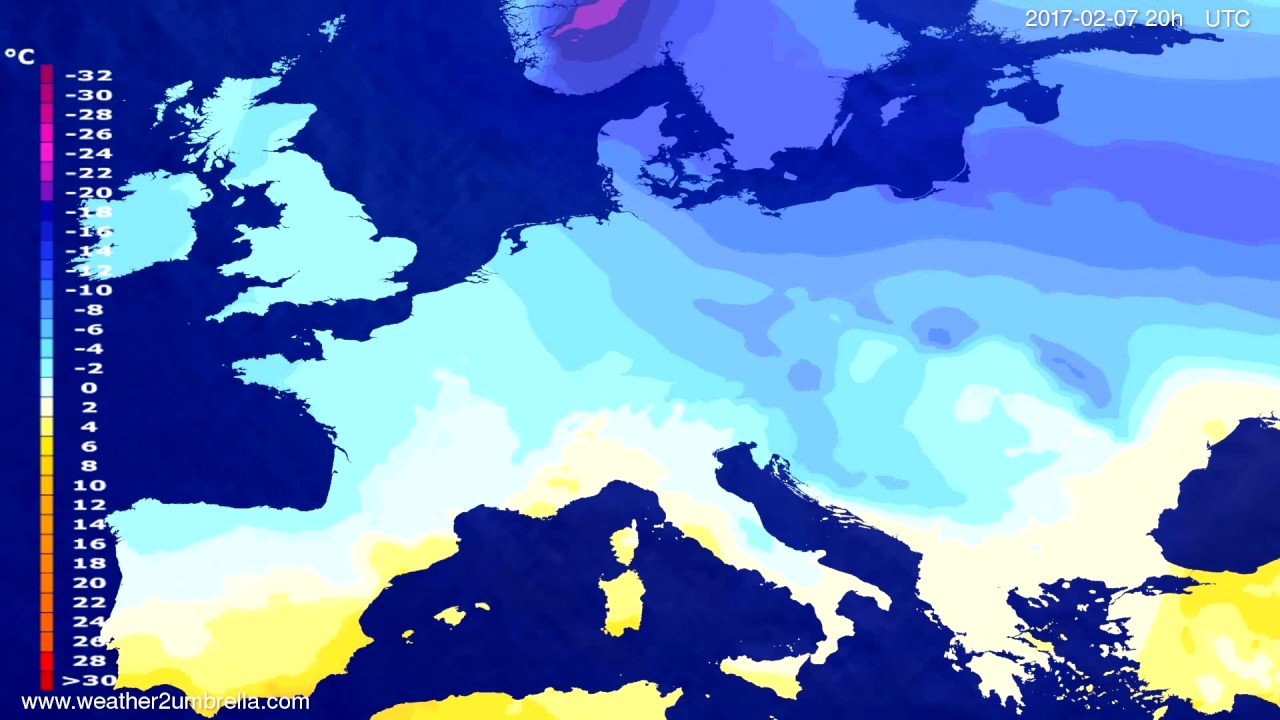 Temperature forecast Europe 2017-02-05