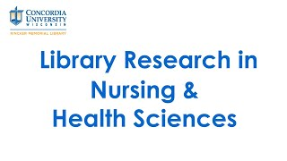 Health Sciences Library Research