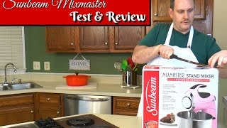 "Join Eric as he does a review of the Sunbeam Mixmaster Heritage Series Stand Mixer. We originally tested this mixer during Amy's Cheap Stand Mixer Challenge and it crashed & burned on the first recipe. Eric is giving the Sunbeam mixer another chance. He is testing this mixer on three tasks: whipping cream, making Oatmeal Raisin Cookies, and making bread dough. Join Eric to see if the Sunbeam Mixmaster can live up to the hype! Amy Learns to Cook is all about learning to make simple, tasty food from fresh ingredients.  One year ago, I made a commitment to stop eating processed convenience foods.  I decided to learn to cook ""real"" food. Join me!  Let's learn to cook together! Enjoy! Please share! Amy's Cheap Stand Mixer Challenge (Sunbeam Crash & Burn):https://youtu.be/lOJHzVoOapYSunbeam Mixmaster Heritage Series FPSBSM210http://amzn.to/2mXE0JbPlease SUBSCRIBE to my channel, LIKE, and leave a COMMENT.Please visit my website: www.amylearnstocook.comAny links in this description, including Amazon, are affiliate links."