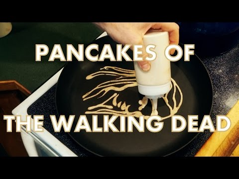 amazing the walking dead pancake art