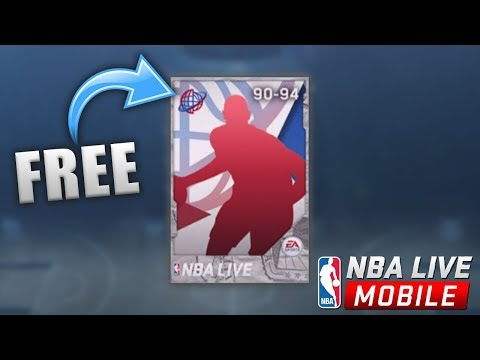 OPENING MY FREE 90+ INTERNATIONAL PLAYER IN NBA LIVE MOBILE!