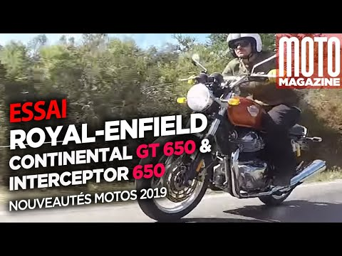 Royal-Enfield Continental GT et Royal-Enfield Interceptor - Essai Moto Magazine