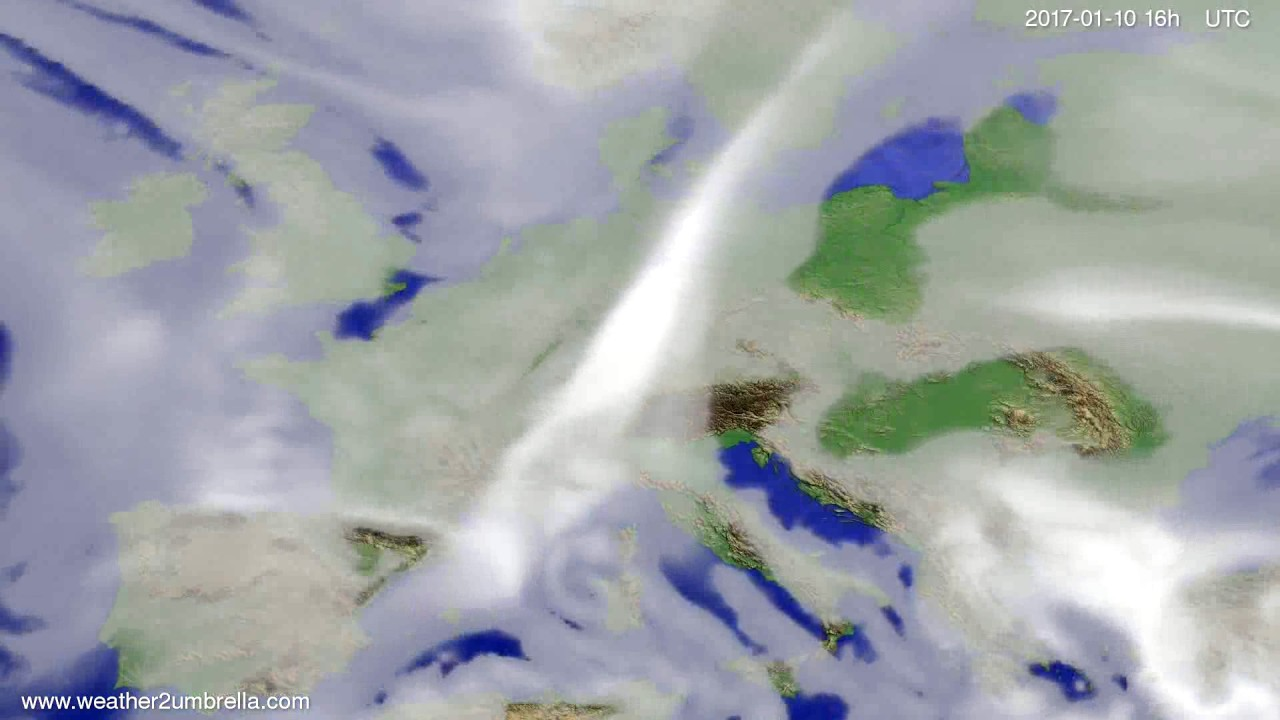 Cloud forecast Europe 2017-01-07