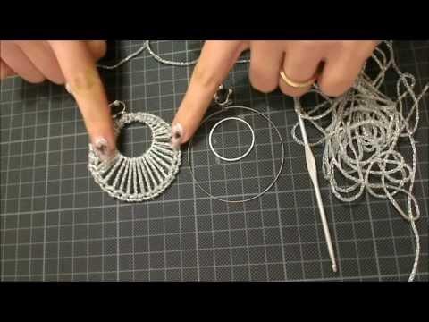 uncinetto - orecchino traforato a cerchio doppio