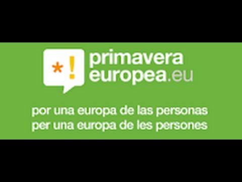 Video de la presentación de la coalición primavera Europea con nuestros socios
