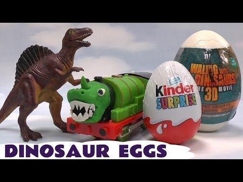 dinosaur - Dinosaurs everywhere. We're unboxing unwrapping 2 Kinder Surprise Eggs 2 BBC Walking With Dinosaurs Surprise Eggs and a Teenage Mutant Ninja Turtles Surprise...