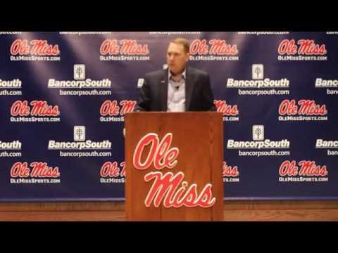 Coach Hugh Freeze addresses the media on National Signing Day 2015