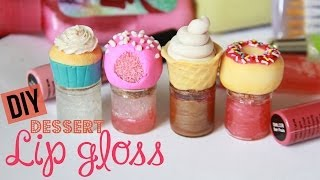 DIY Dessert Lip Gloss - How To Make Sweet Lip Gloss Jars & Bottles - Polymer Clay - YouTube