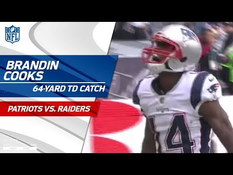 Video: Tom Brady Hits Brandin Cooks for Speedy 64-Yd TD! | Patriots vs. Raiders | NFL Wk 11 Highlights