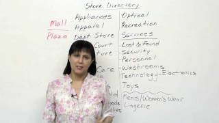 Shopping in a mall, Practical English Vocabulary