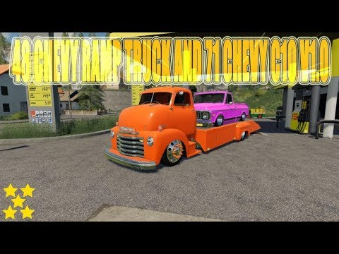 48 Chevy ramp truck and 71 Chevy C10 v1.0