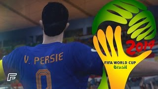 Robin Van Persie - All 4 Goals In 2014 World Cup: Brazil (FIFA Remake)