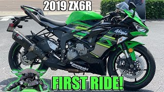 NEW 2019 Kawasaki Ninja Zx6r First Ride + Review!