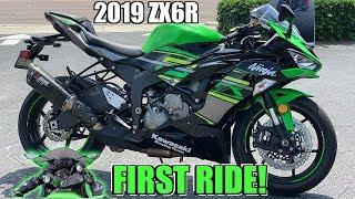 1. NEW 2019 Kawasaki Ninja Zx6r First Ride + Review!