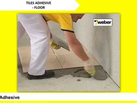 Weber Tile Adhesive Installation