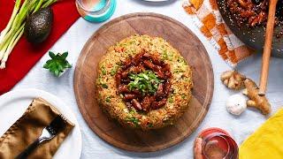 Teriyaki Chicken Fried Rice Dome by Tasty