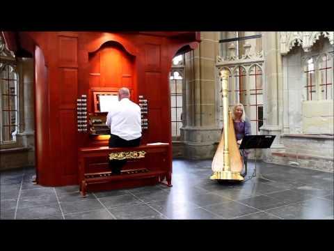 Organ and harp