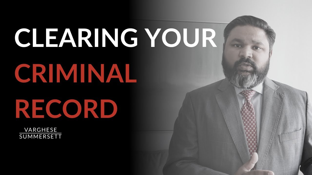 Video: Clearing Your Criminal Record: Expunction and Nondisclosure