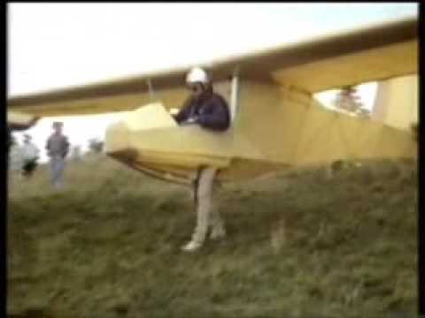 ultralight sailplane - Boeing Company merges with Fred Flinstone to create interesting ultralight glider.