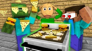 Video Monster School: WORK AT FAST FOOD PLACE WITH BALDI'S BASICS BECOME ! - Minecraft Animation MP3, 3GP, MP4, WEBM, AVI, FLV Desember 2018