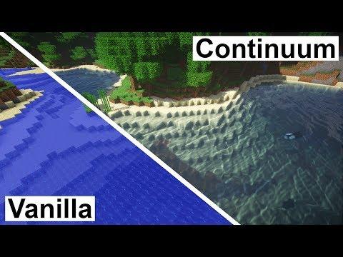 Minecraft Vanilla VS Continuum 1.3 Ultra (Super Duper Graphics Pack) [4K/60FPS]