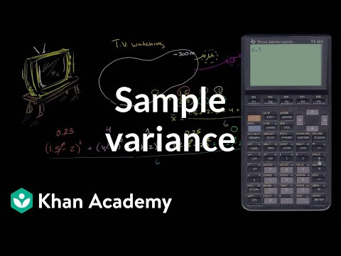 Sample Variance Video  Khan Academy