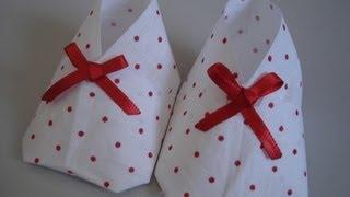 Sapatinho De Bebê - Origami/Artesanato - Passo A Passo - Tutorial