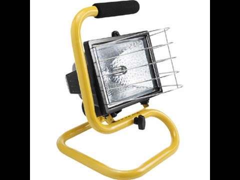 How To Replace Halogen Bulb In Work LIght