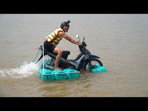 NTN - Thử Đi Xe Máy Trên Nước (Running motorbike on water) - Thời lượng: 12 phút.