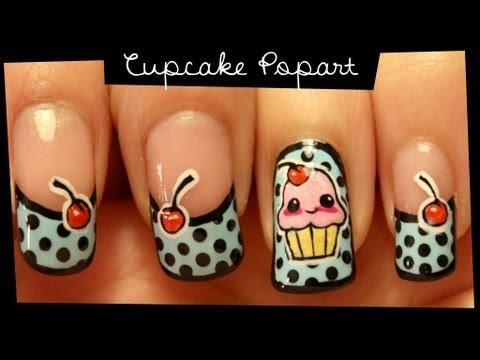 cupcake popart nail art