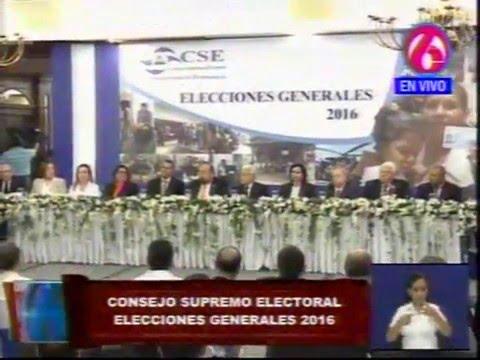Consejo Supremo Electoral convoca a Elecciones Generales de 2016
