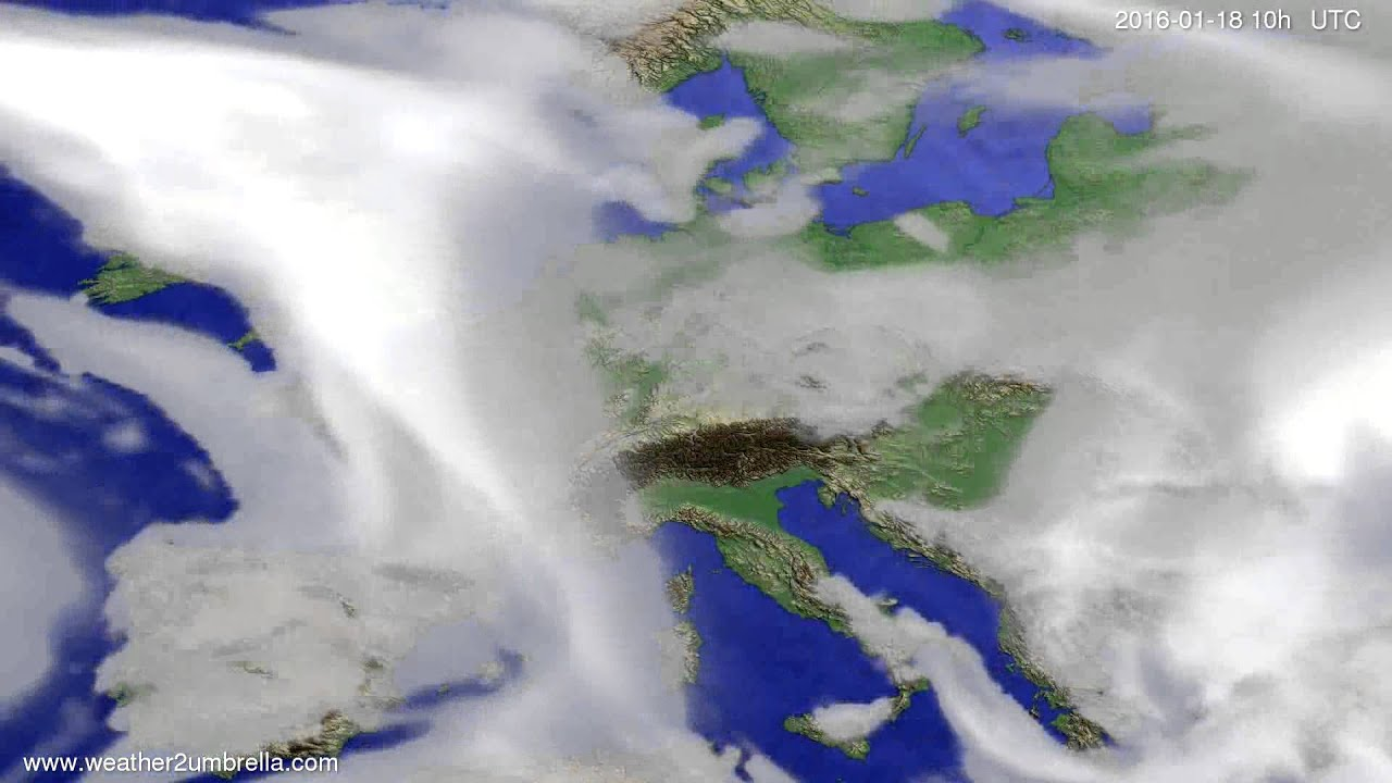 Cloud forecast Europe 2016-01-16