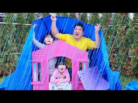 【寸劇】大雨で犬の小屋が壊れた!DIY Dog House - はねまりチャンネル