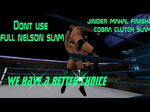 Which finisher is best altrenative for cobra clutch slam-jinder mahal finisher