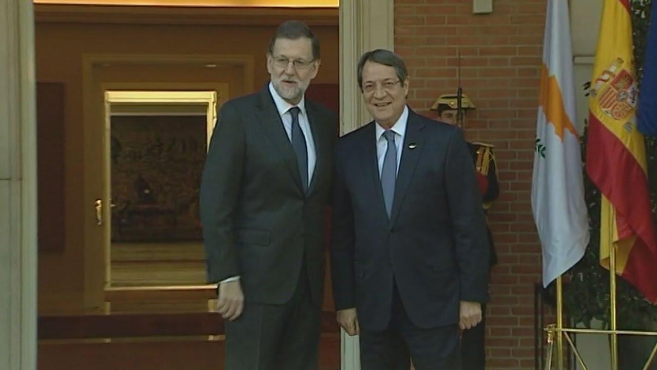 Συνάντηση του Μ.Ραχόι και του Ν.Αναστασιάδη πριν από τη Σύνοδο Κορυφής της νότιας Ευρώπης